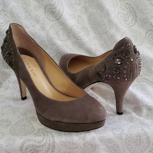 Gianni Bini Suede Sequined Heels
